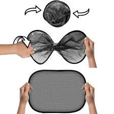 Kids Car Blinds Igadgitz 2 Pack Fold Up Universal Car Window Shades Sun Uv Blinds
