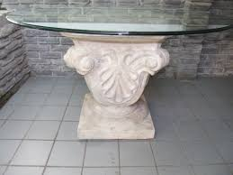 round glass top table with metal base fantastic carving stone base for round glass top dining table