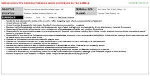 Secretary Resume Duties Executive Secretary Resume Resume Badak