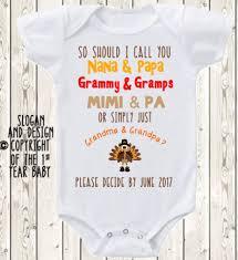 thanksgiving pregnancy announcement idea grandparents