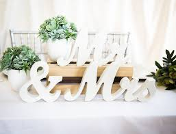 Mr And Mrs Sign For Wedding Mrs Wedding Table Signs For Sweetheart Table Decor Wooden Letters