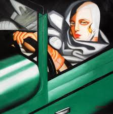 homage to t de lempicka tamara in the green bugatti 32x32