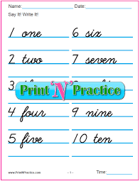 7 number writing worksheets numbers words pictures writing