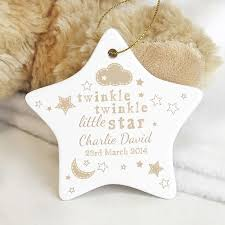 twinkle twinkle decorations personalised twinkle twinkle ceramic decoration