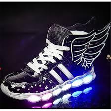 big kids light up shoes boys with luminous sneakers glowing wing kids light up shoes spring