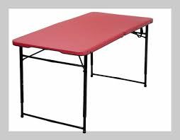 6 foot folding table home depot table adjustable height fold in half table 6 foot height