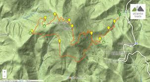 Rock Tunnel Leaf Green Map Blood Mountain Loop Hiking The Appalachian Trail U0026 Freeman Trail