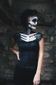 skeleton makeup how to for halloween costume ideas dressed to kill