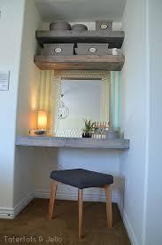 Designer Floating Desk Best 25 Desk To Vanity Diy Ideas On Pinterest Diy Desk To