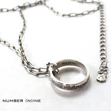 chain ring necklace images Upper gate rakuten global market number n ine number nine jpg