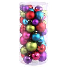 1 5 2 inch shiny matte ball ornaments set of 50 multi colored
