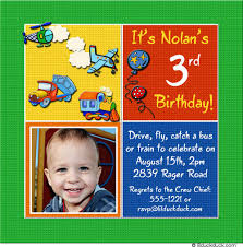 birthday invitation little boy flying imagination