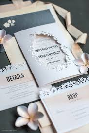 wedding invitations in blush watercolor papercut wedding invitations lia griffith