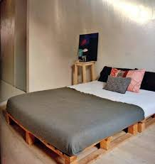 Bed Frame Made From Pallets Build Bed Frames Themselves Diy Bed Frame From Pallets