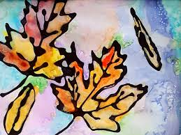 falling leaves u0027 watercolor kids craft idea reality daydream
