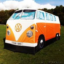 volkswagen type 5 volkswagen bus camper full size tent orange by monster