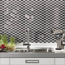 Backsplash Stick On Tiles by Kitchen Glass Backsplash Kitchen Blue Backsplash Tile Mosaic