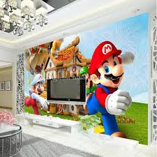 3d Wallpaper For Bedroom Super Mario Photo Wallpaper Personalized Custom 3d Wall Mural Game