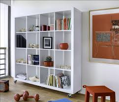 Bookshelf Seat Furniture Modern Room With Square White Modern Portable