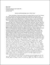 Essay Rough Draft Example Sample Of Synthesis Essay Synthesis Essay Ideas Synthesis Essay
