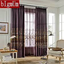Custom Blackout Drapes Aliexpress Com Buy Embroidered Linen Blackout Curtains For
