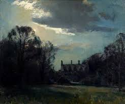 edward seago anglesey abbey by moonlight