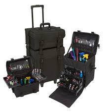 professional makeup artist organizer seya 2 in 1 black fabric professional makeup artist