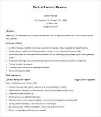 resume templates for medical assistants resume templates medical assistant lidazayiflama info