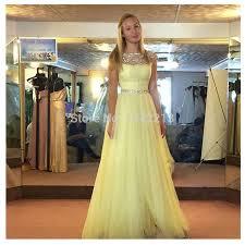 aliexpress com buy shiny beaded light yellow short sleeves prom