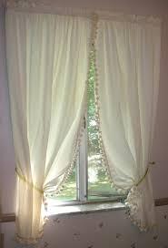 Farmhouse Kitchen Curtains by Vintage Farmhouse Kitchen Curtains Unbleached Muslin Cotton With