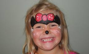 minnie mouse face painting marvelous masks chicago face painting