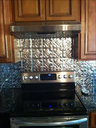 Kitchen Metal Backsplash Ideas Metal Backsplash Oil Rubberd Bronze Panel Kitchen Metal Faux Tin