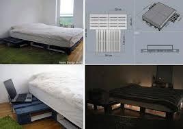 Homemade Bed Platform - diy pallet platform bed pallet furniture pinterest pallet