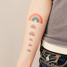 tattly rainbow by arrington from tattly temporary tattoos