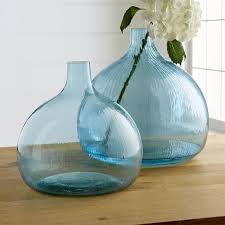 Oversized Vase Turquoise Glass Vase