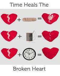 Broken Heart Meme - time heals the 1112 1 7 6 5 broken heart meme on me me