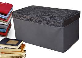 Folding Storage Ottoman Ottomans Mainstays Collapsible Storage Ottoman With Removable
