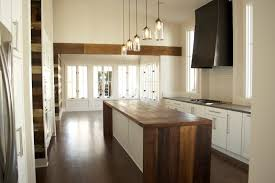 elegant contemporary kitchen design with wooden base and wall
