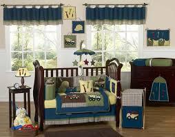 Crib Bedding Boy Modern Unique Designer Blue Construction Baby Boy Crib Bedding Set