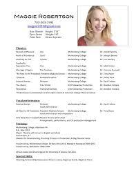 Resume Actor Sample by Acting Resume Beginner Within Acting Resume Sample Beginner Resume