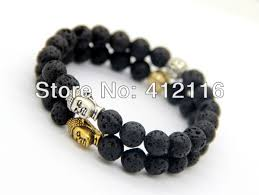 bead bracelet design images Discount new design men 39 s beaded energy lava stone antique silver jpg