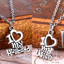 aliexpress love necklace images Valentines gift i love my wife husband heart letters alphabet jpg
