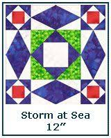 pattern storm at sea with template and directions quilts