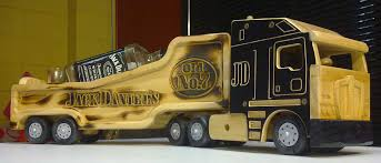 Homemade Wooden Toy Trucks by Jack Daniels Bar Truck