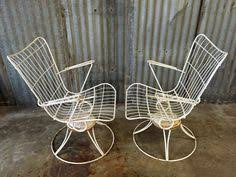 1960s Patio Furniture 50 U0027s Mid Century Homecrest Patio Swivel Rocker Wire Chair Bertoia