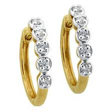 daily wear diamond earrings bling diamond accessories daily wear bali shape earring bge071