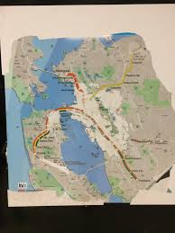 Sf Bart Map Bart Map From Ye Not Too Distant Dayes