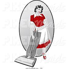 woman vacuuming clipart 14