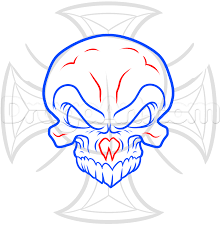 how to draw an iron cross skull by skulls pop culture