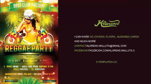 party flyer free reggae party flyer free psd template youtube